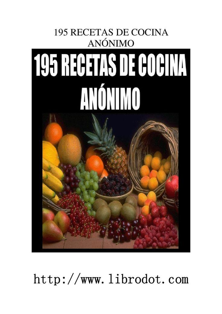 195 recetas de cocina  195 variadas recetas de cocina
