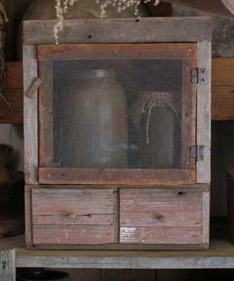 GOOD cupboard! Made by Sweet Liberty Homestead! Come follow us as we're gearing up to make primitives again! Hubbie just called and he has a barn find for me that he says I'm going to flip out over but won't tell me..wonder what it is! Can't wait!
