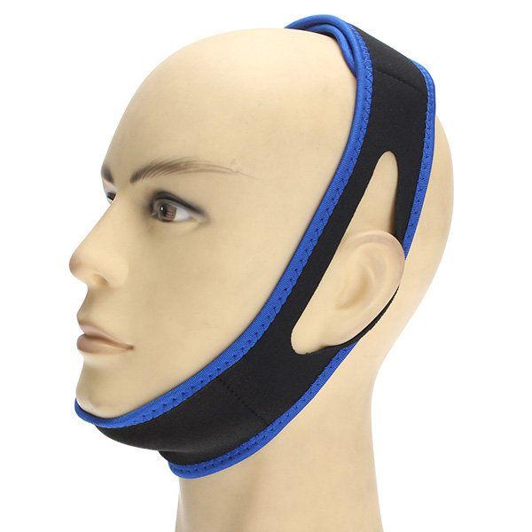 Anti Snoring Snore Stopper Chin Jaw Strap Supporter Sleep Improving Belt Brace Blue - Newchic