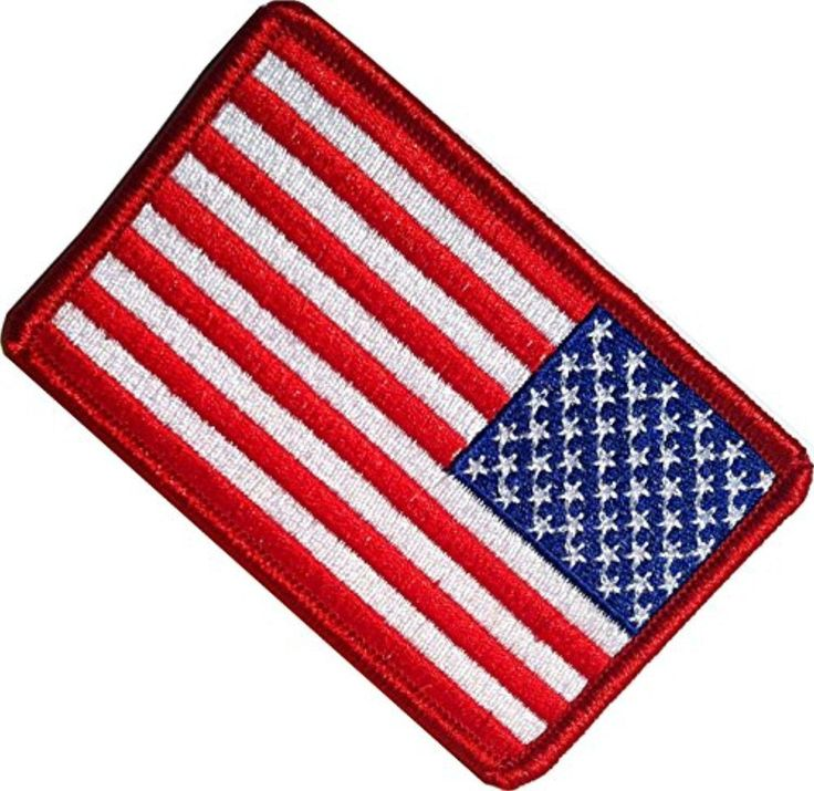 """[8 Bulk Count Set] Custom, Cool & Awesome {1.9"""" x 3.4"""" Inches} Small Rectangle USA American Flag Patriotic Morale Military Left Facing Pair Design (US Type) Velcro Patch """"Red, White & Blue"""" - Brought to you by Avarsha.com"""