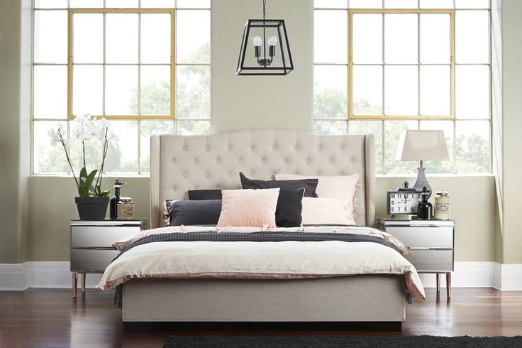 Avian Upholstered Queen Bed | Bedshed