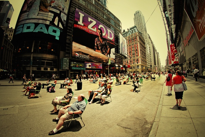 Relaxing at Times Square 1