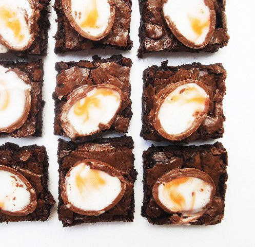 cadbury egg brownies | Cadbury Creme Egg Recipes | Pinterest