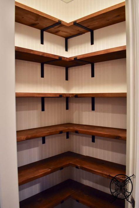 DIY Farmhouse Pantry Shelves