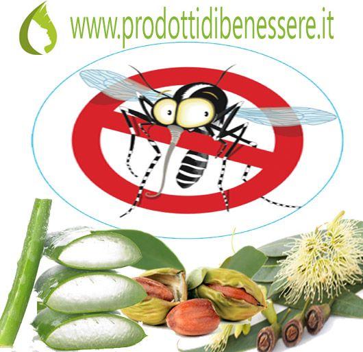 REPELLENTI FAI DA TE - GEL CORPO 100 ml Olio di Jojoba BIO 50 gocce O.E. di Citronella (antisettico, rilassante, insettorepellente) 25 gocce O.E. Eucalipto (analgesico, diuretico, antiparassitario) 100 ml gel Aloe Vera http://www.prodottidibenessere.it/it/