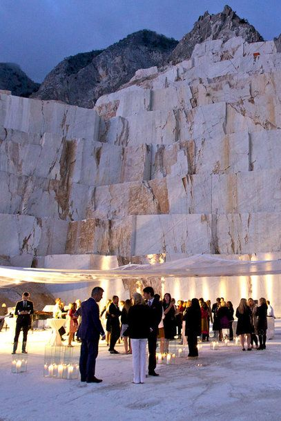 Event in the Marble Quarries of Carrara