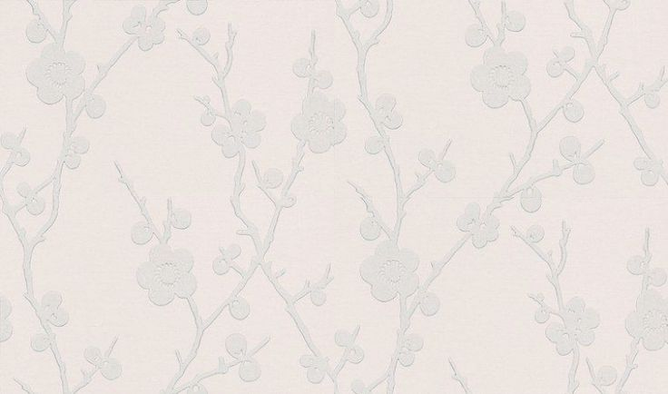 Blossom (75301) - Harlequin Wallpapers - A sweet leaf and blossom branch trellis effect design in a single matt colour on a lightly lined lustre background.  Shown here in silver grey against a light neutral. Available in other colours. Please request sample for true colour match.