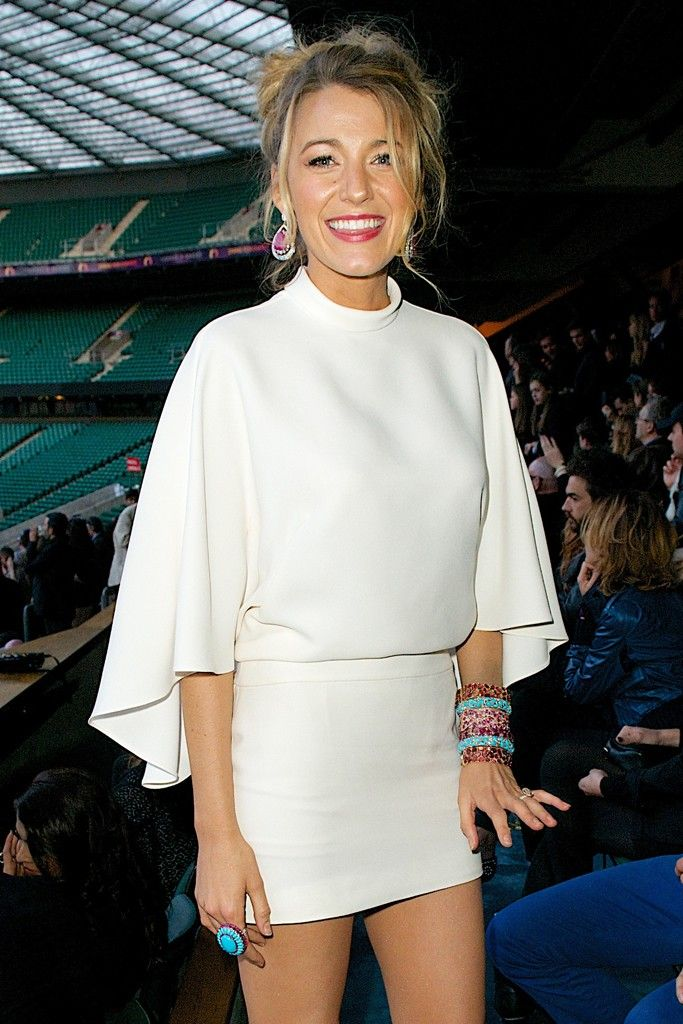 The Mini Skirt Wedding Look | Blake Lively at Chime for Change [Photo by James Mason]