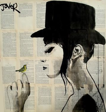 """One of my favorites by Jover, Saatchi Art Artist Loui Jover; Drawing, """"canary"""" #art"""