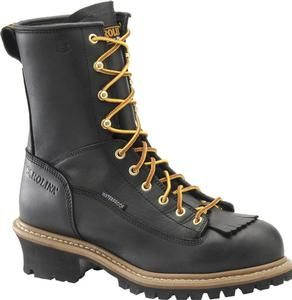 Carolina Men's 8 in. Waterproof Steel Lace to Toe Logger Boots