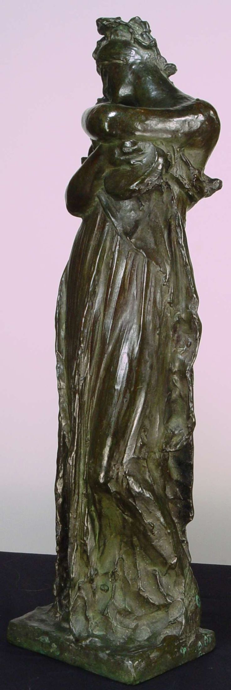 "Josef Vaclav Myslbek (Czech 1828-1922) ""Music 4th Draft"" Bronze. Early ..."