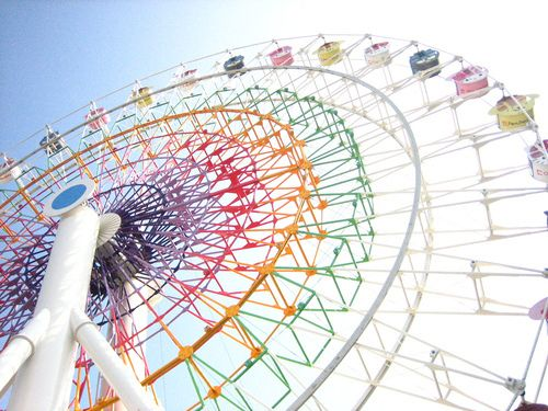 rainbow sanrio ferris wheel