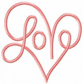 Love free embroidery design 14
