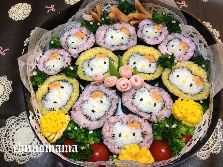 Sushi  roll kitty bento