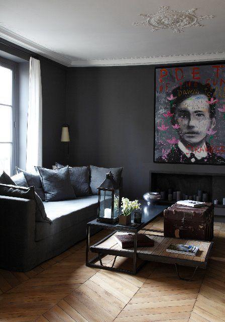 EphéMèrE: Appartements aménagés et décorés par David Gaillard-maybe if the colour of the walls were a deep plum, I would love this space a lot more.