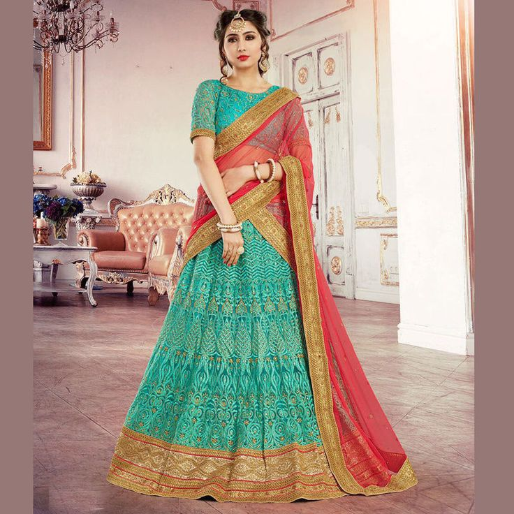 Indian Ethnic Designer Bollywood Bridal Wedding Party New Lehenga Choli Dupatta  #Handmade #LehengaCholi