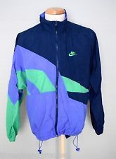 Vintage 90s Nike Color Block Purple Green Blue Windbreaker Jacket Mens L