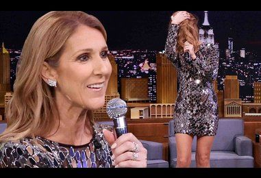 Celine Dion impersonates Cher, Rihanna and Sia on The Tonight Show