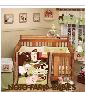 Farm Theme Nojo Babies Baby Crib Bedding Set Pigs Ponies