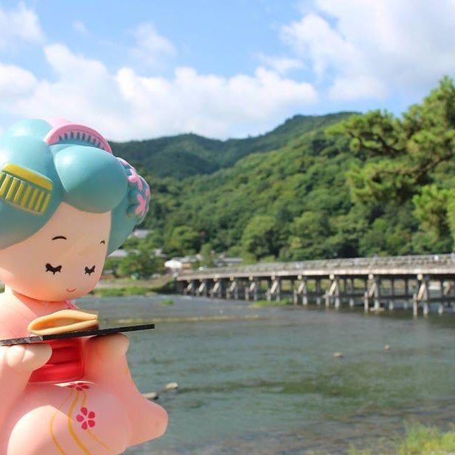 昨日の五山の送り火は、土砂降りで見られませんでした。残念(>_<) #japan #おたべ #こたべ #kyoto #嵐山 #良い天気 #残暑…