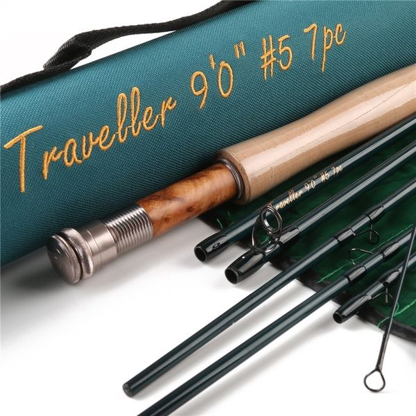 Maxcatch Traveller 9 Ft 5 Weight 7 Pieces Fly Fishing Rod With Cordura Rod Tube Wish In 2021 Travel Rod Fly Rods Fly Fishing Rods