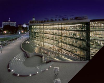 I love libraries and the Salt Lake City Library makes me happy even when I just drive by it.
