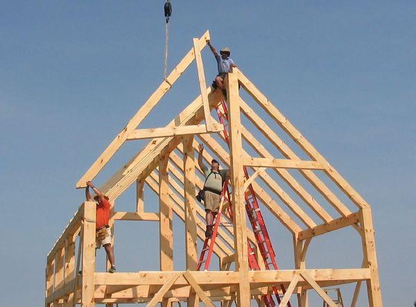 nbsp the frame timber frame homes owner builder project timber framing wife oak timber nbsp we raised timber frames vermont frames