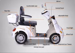 Quality-assured Big Wheels Classic 4 Wheel Electric Scooter With Roof For Adult Wtih Mp3/fm Speaker , Find Complete Details about Quality-assured Big Wheels Classic 4 Wheel Electric Scooter With Roof For Adult Wtih Mp3/fm Speaker,4 Wheel Electric Scooter,Scooters For Adults Big Wheels,Scooter With Roof from -Wuxi Chaoya E-Vehicle Co., Ltd. Supplier or Manufacturer on Alibaba.com