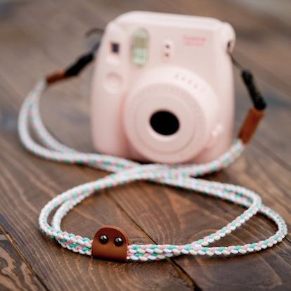 Pretty coloured Instax Mini 8 Strap for keeping your Instax snug around your neck. Color: Pastel
