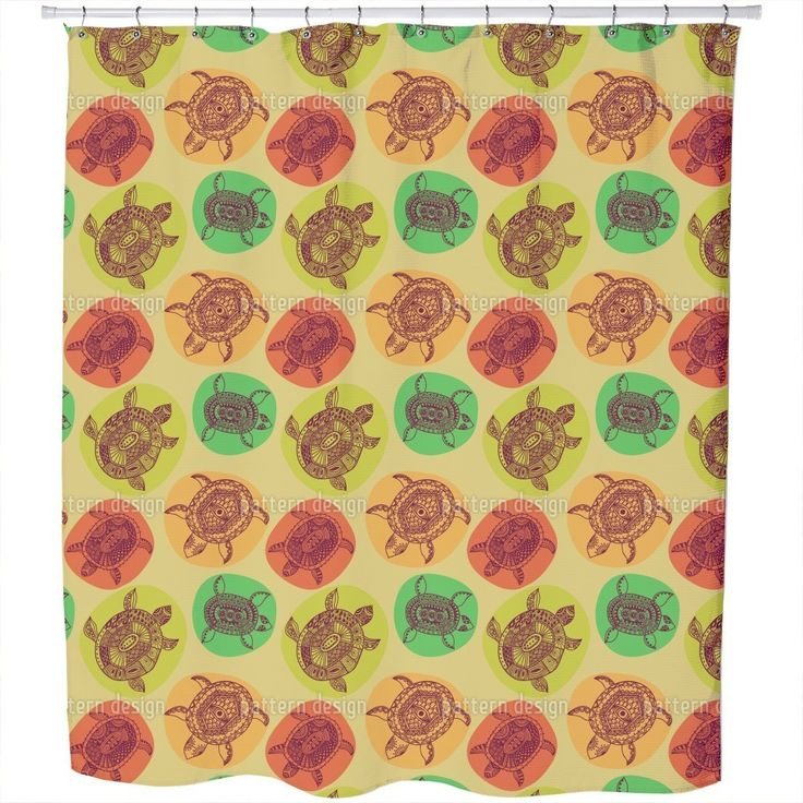 Uneekee Turtles of All Oceans Shower Curtain