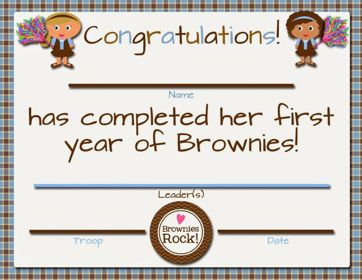 58 best Girl Scout - Brownie Certificates images on ...
