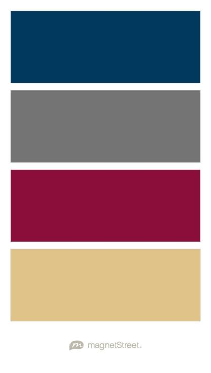 Navy Charcoal Burgundy And Gold Wedding Color Palette