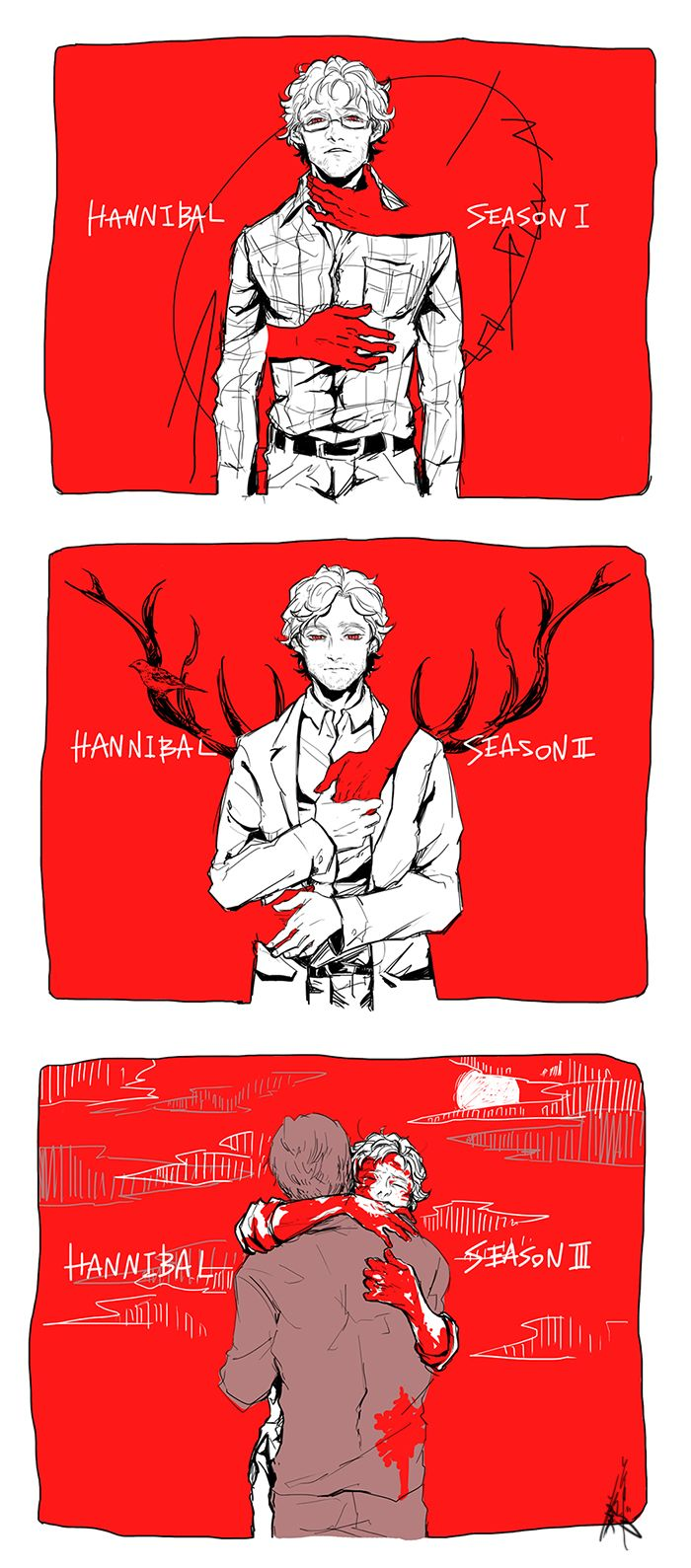 Hannibal fan art. Source: soyogi-bon.tumblr