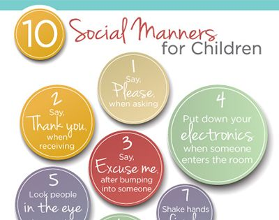 These 10 Social Manners for Kids are little things that will make a big difference in helping my kids in the etiquette department.