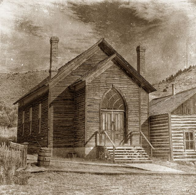 Ghost Town, Bannack Montana, first Territorial Capital and gold rush town