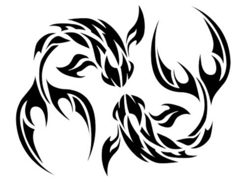 """Tribal Pisces. Wouldn't get it for my """"sign"""" but I love the design of the fi…"""