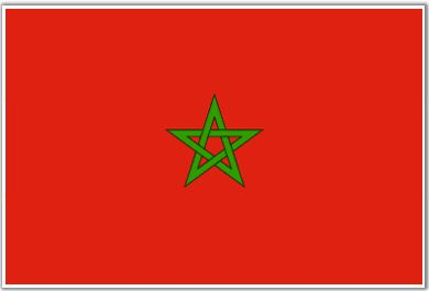 Morocco Flag - Download Picture of Morocco Flag Outline for kids to color
