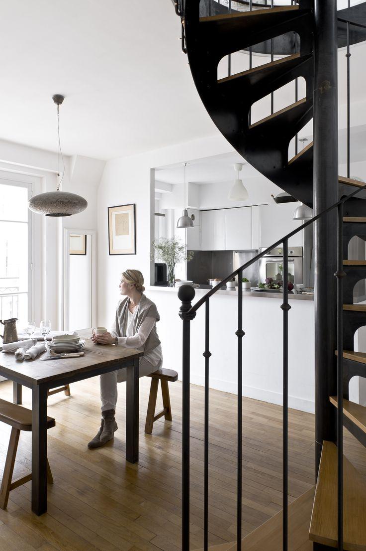 Escalier de style Bistrot (modèle déposé d'Escaliers Décors® www.ed-