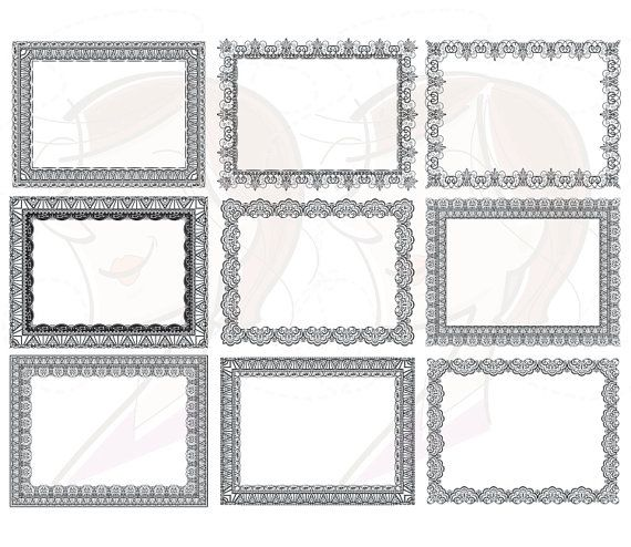 Rectangle Borders Frames Lace Graphic DIY by