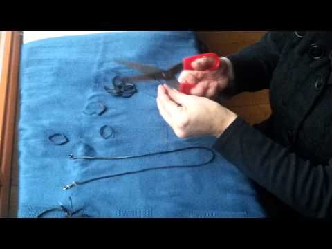 ▶ Online cursus sieraad maken van fietsband - YouTube making a necklace from a bicycle tire
