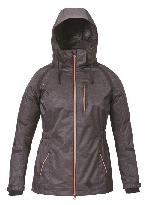 Die Isla Damen-Jacke von Caldene - die roségoldene Details sind unglaublich schön 😍  #reitmode #reitjacke #roségold #rotgold #wasserabweisend #kapuze #schwarz #jacke