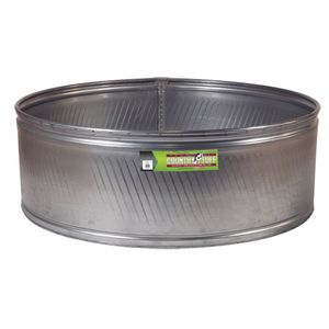 Country Tuff Round Galvanized Water Tank