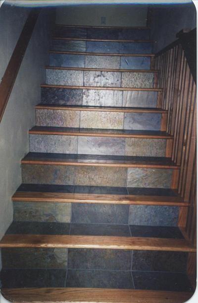 Slate Tile Floor and Red Oak #2