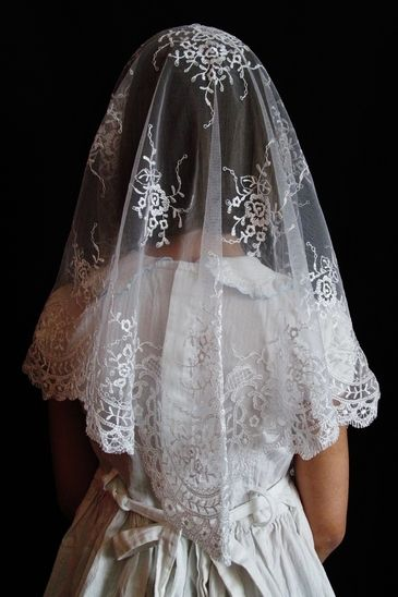 $39 Mantillas and chapel veils handcrafted with soft, supple lace and imported mantillas from Spain and Calais, France. Elegance and quality proper for use inside Catholic churches, where the Blessed Sacrament is reserved in the tabernacle.