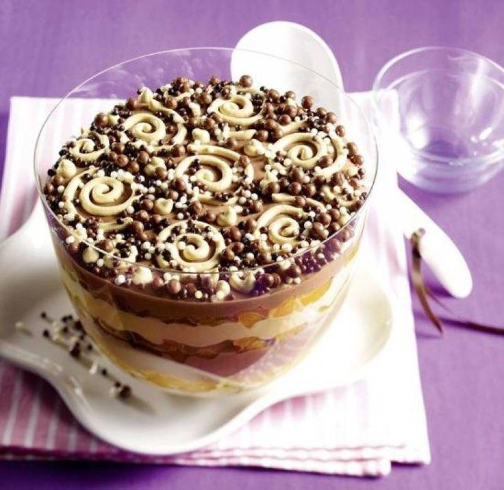 Csokis-barackos desszert