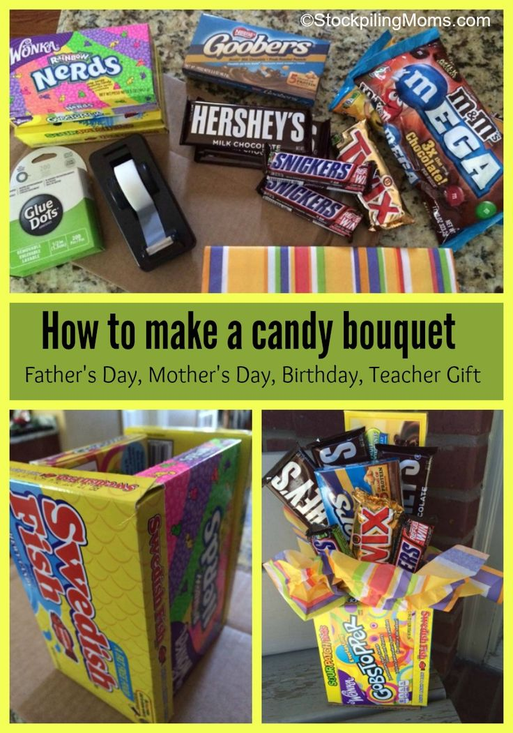 How to make a candy bouquet - perfect for Father's Day and Graduation Gifts!