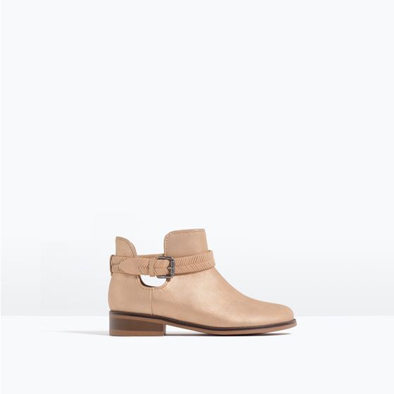 BRAIDED DETAIL ANKLE BOOTS from Zara
