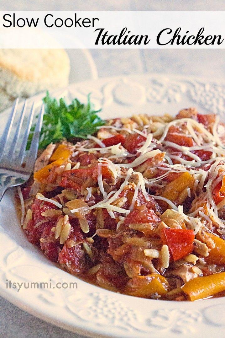 Recipe for Slow Cooker Italian Chicken from ItsYummi.com for #secretrecipeclub