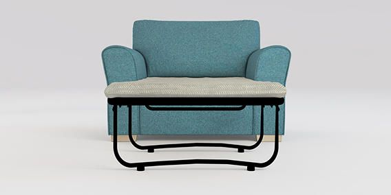 Buy Michigan Sofa Bed - Snuggle Seat (1 Person) Tweedy Blend Teal Slim Block - Light from the Next UK online shop