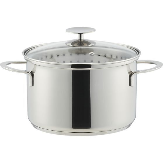 Stainless 4 qt. Vegetable Steamer by Berndes for Crate and Barrel  | Crate and Barrel